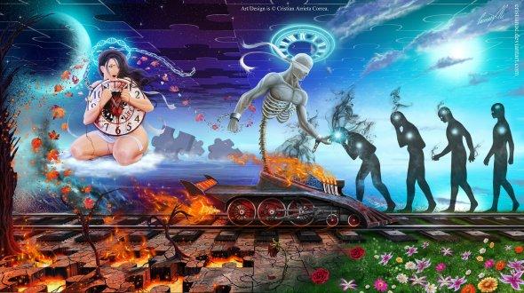Cristian Arrieta Correa cristianac deviantart ilustrações fantasia surreal onírico