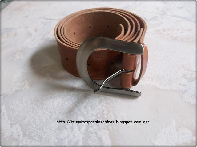 cinturon artesanal de cuero