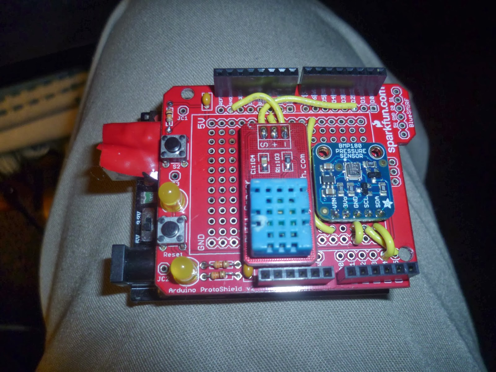 Arduino your home environment weather lcd shield