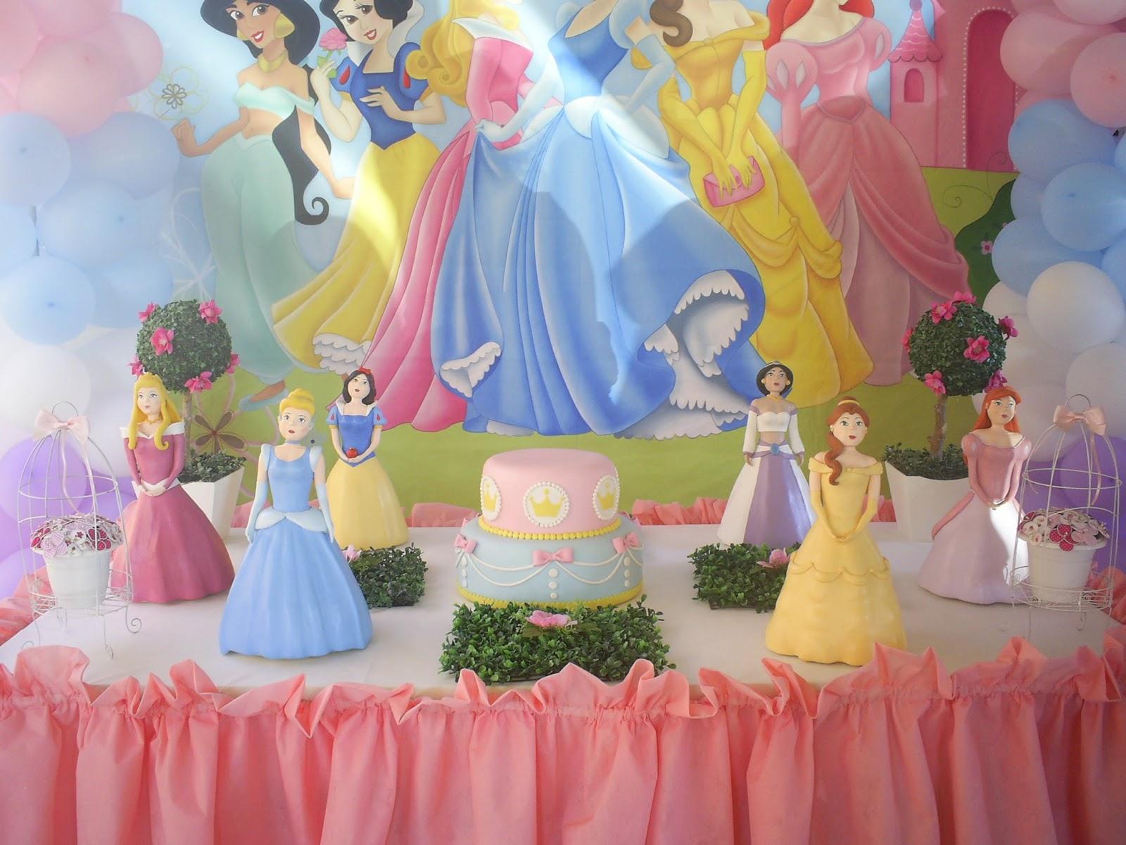 Irla Festas e Mimos Decoraç u00e3o festa Princesas Disney -> Decoração De Festa Das Princesas Da Disney