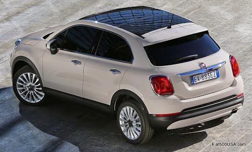 Fiat 500X with Sky Dome