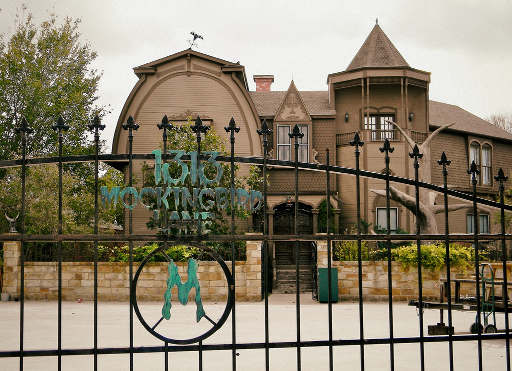 Victorian home converted into the munsters home common for The texas house