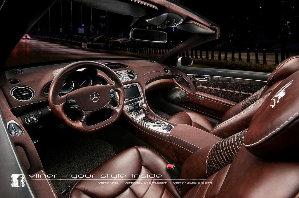 Mercedes Benz Sl Custom Interior By Vilner Car Tuning