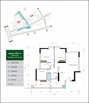 Căn hộ 119,7 m2