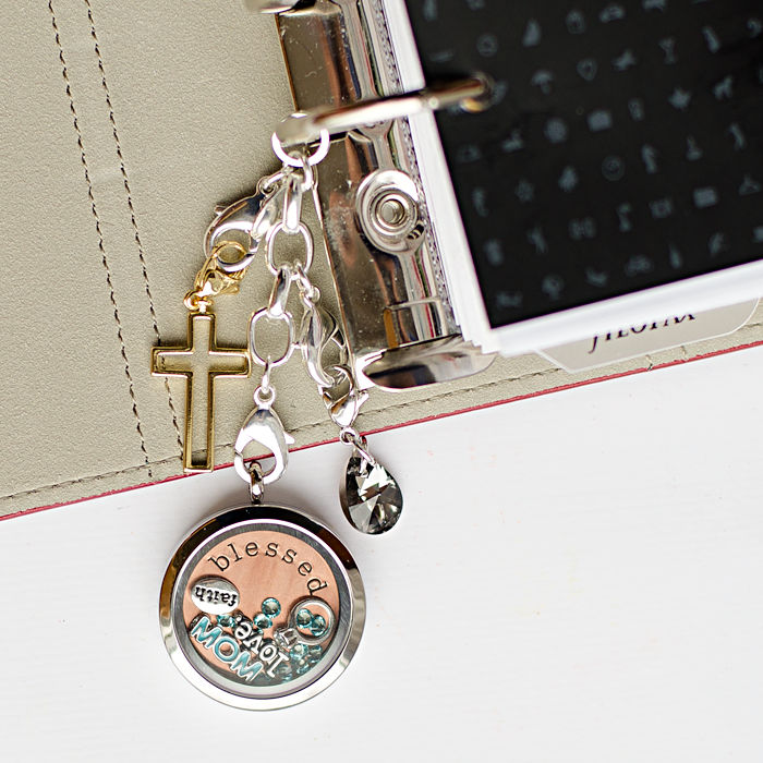 use an Origami Owl Locket Extender to hand charms from your planner, also sharing photos and video of some of the exclusive printables and original mixed media art work.
