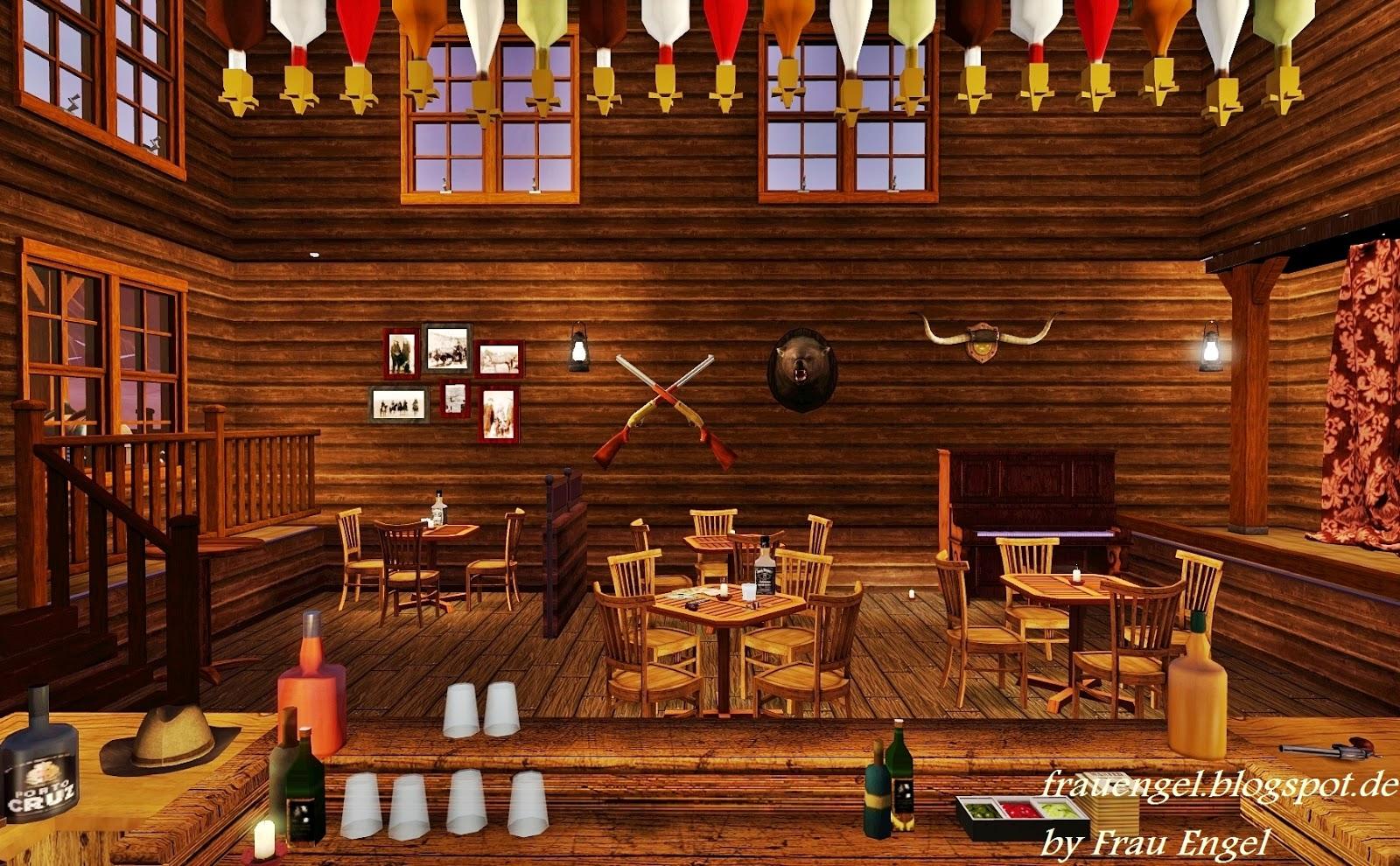 Old western saloon decor