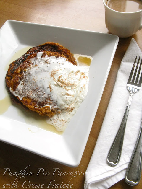 Pumpkin Pie Pancakes with Creme Fraiche - The Best of this Life