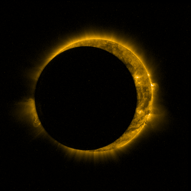 Proba-2 solar eclipse. Credit: ESA/Royal Observatory of Belgium