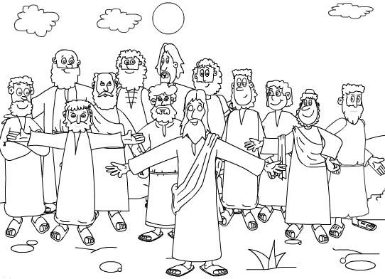 Dibujo de Los Discipulos para colorear