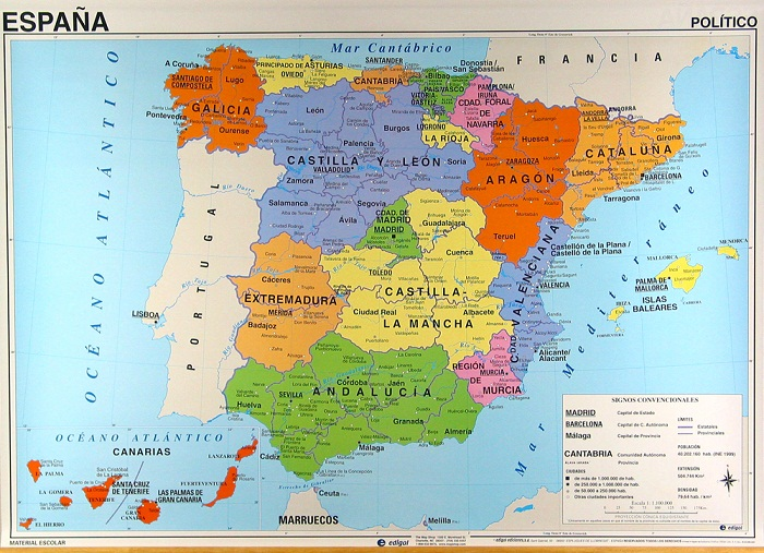 political spain map pictures map of spain pictures and information