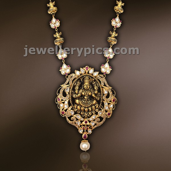 lakshimi devi gold locket and ball chain