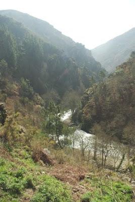 Hoces del Esva, vista del río