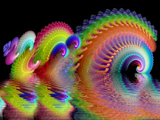 psychedelic wave wallpaper