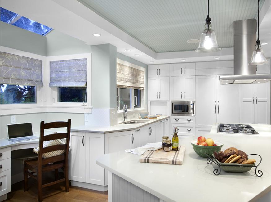 Delorme designs blue beadboard ceilings for Benjamin moore kitchen paint ideas