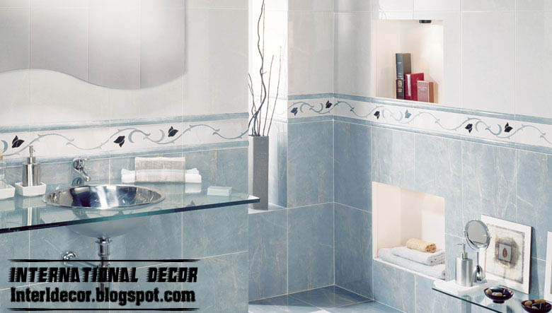 Classic Ceramic Wall Tiles Scheme Blue Bathroom Wall Tiles Design