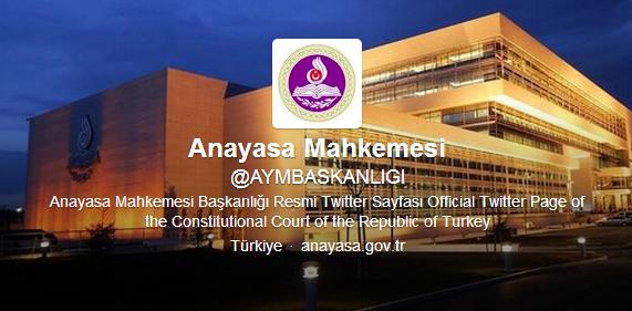 anayasa mahkemesi twitter hesabı