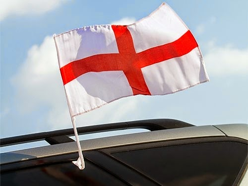 England World Cup Car Flag