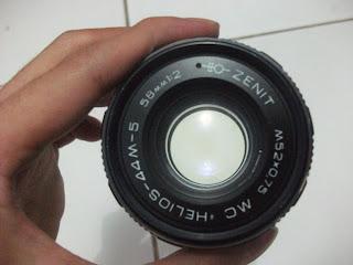 depan lensa helios 44M-5 58mm f/2