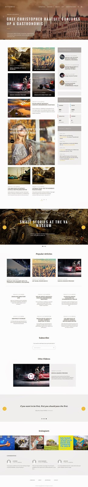 Responsive WordPress Magazine Blog Theme