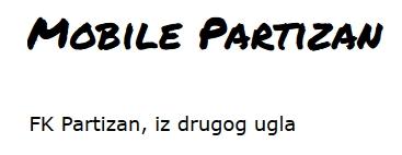 Mobile Partizan