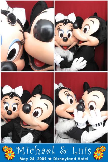 Disney Disneyland wedding photobooth Mickey Minnie