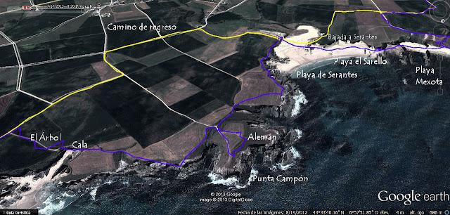 Mapa 3 -  Senda Costera de Tapia de Casariego a La Playa de Peñarronda