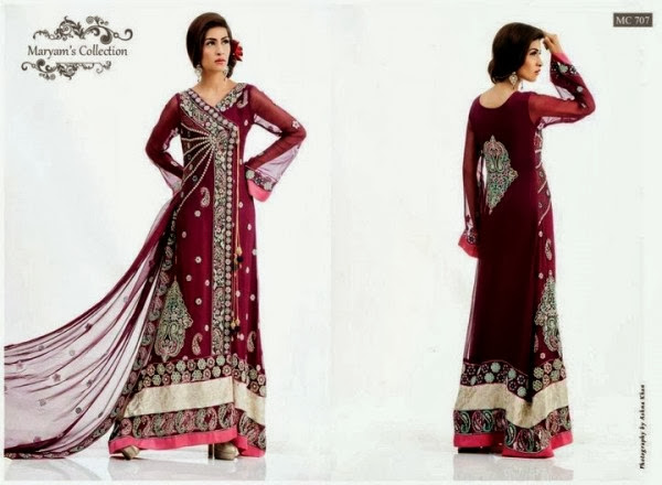 Winter Wear Embroidered Dresses 2013-14 For Girl & Women