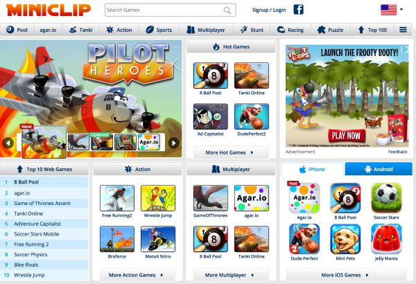 Free online miniclip games for girls