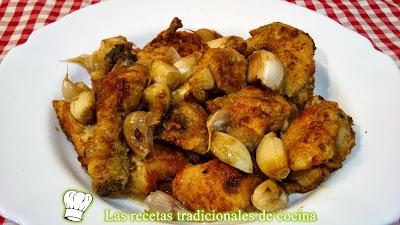 receta fácil de pollo al ajo