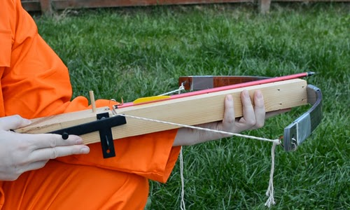 Homemade diy emergency crossbow.