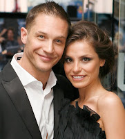 Tom Hardy and his fiance Charlotte Riley 