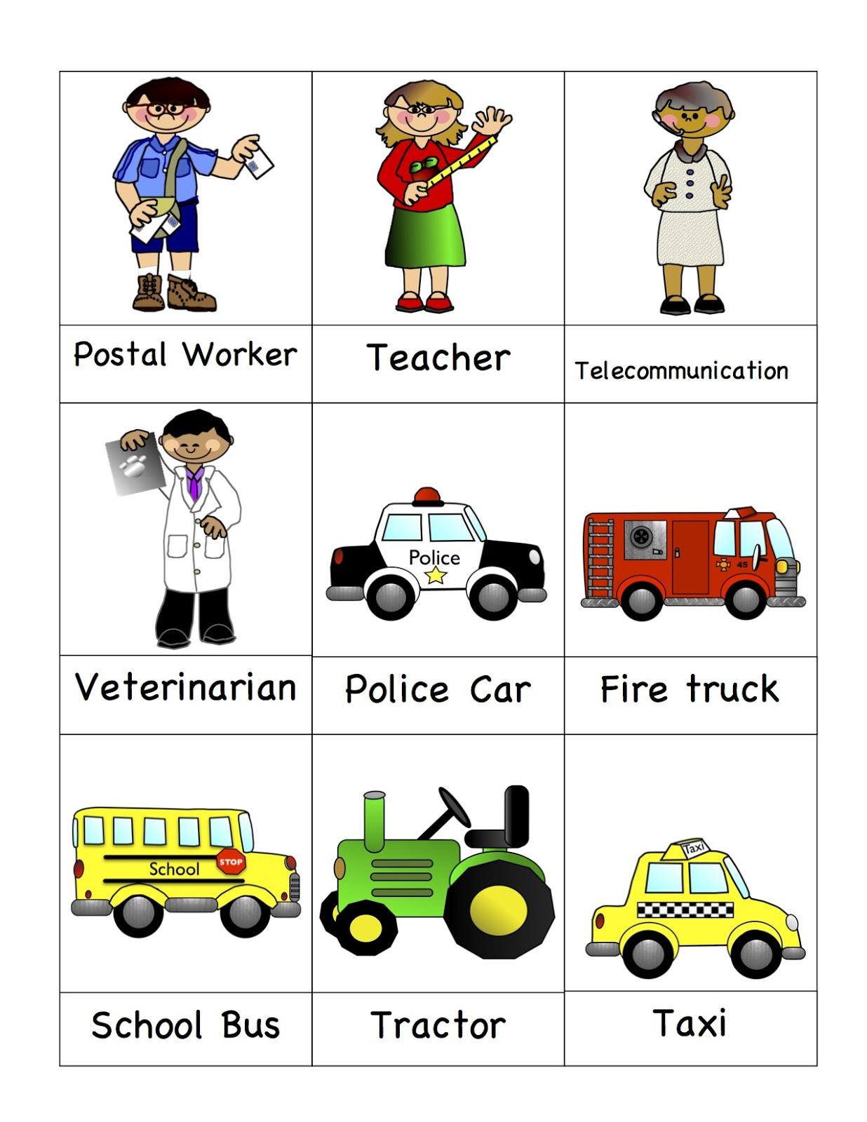 preschool community helpers printables