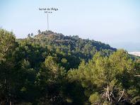 El cim del Serrat de l'Àliga vist des de la pista d'accés