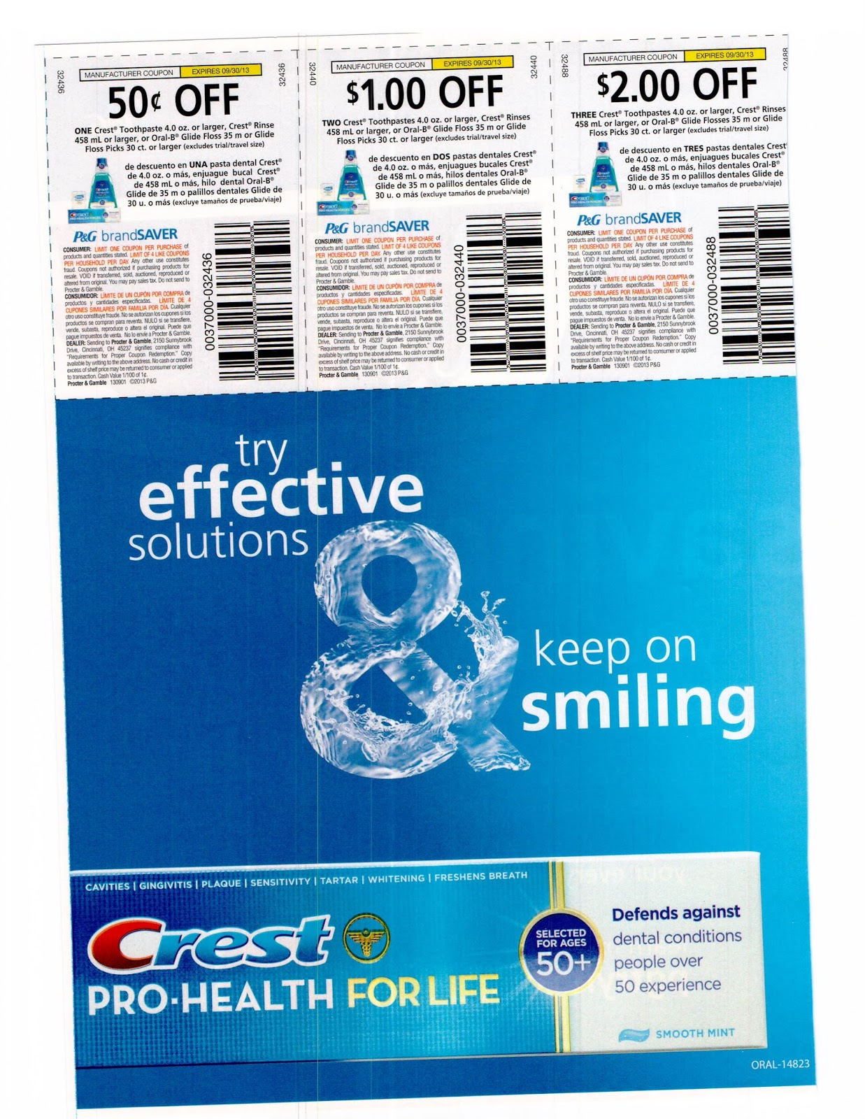 ... Coupon Inserts: SOLD OUT 9/1 Proctor and Gamble Whole Coupon Inserts