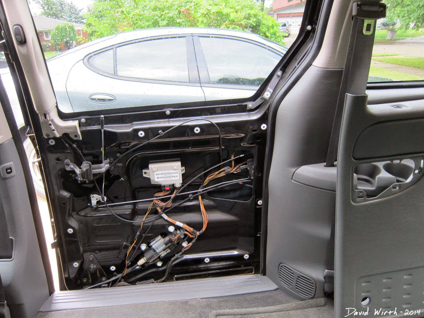 chrysler town and country, dodge caravan, remove door panel