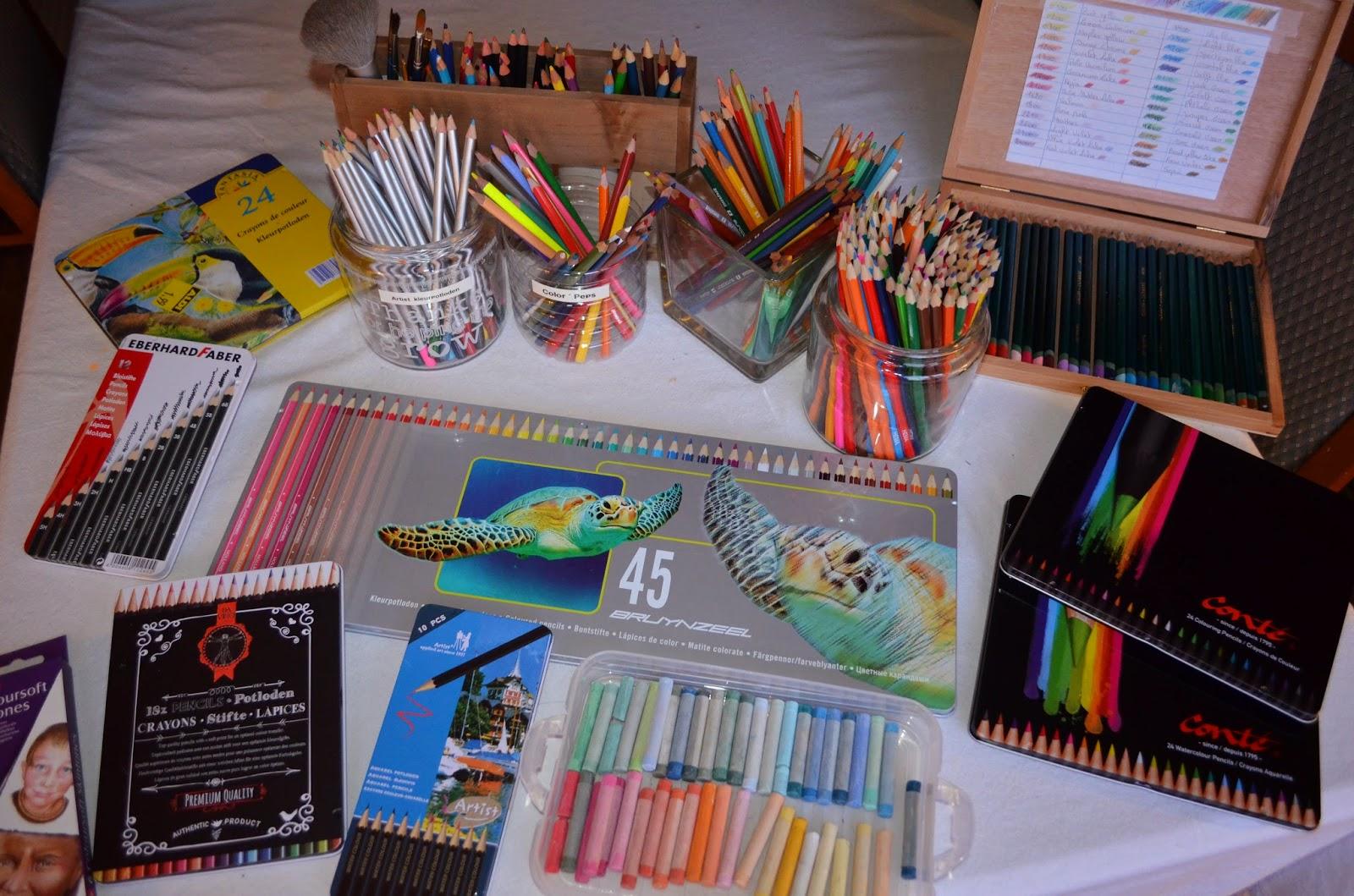 Kleurvitality nessy 39 s artwork stiften kleurpotloden for Action printpapier