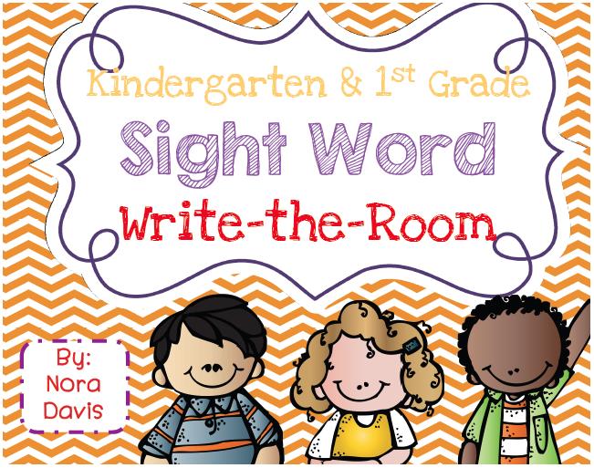 Kindergarten SuperKids: Sight Word Write-the-Room!