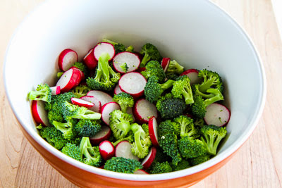 Easy Broccoli and Radish Salad Recipe with Gorgonzola (Low-Carb, Gluten-Free) found on KalynsKitchen.com