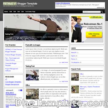FBTMaG V1 blogger template. 3 column footer blogspot template