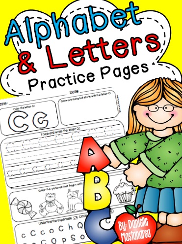 http://www.teacherspayteachers.com/Product/Alphabet-Letters-Practice-Pages-A-Z-Letters-Sounds-Practice-1306990