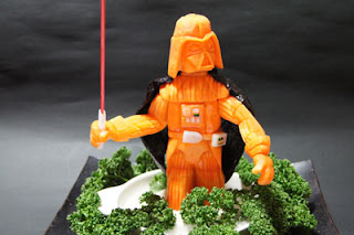 image carved carrot Darth Vader from Sushi World blog