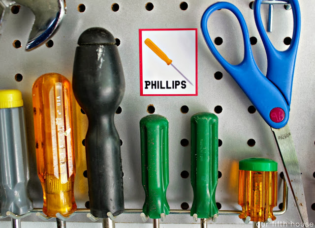 zink happy labeling  - garage tools