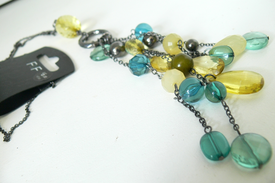 Naszyjnik Rosewholesale Stylish Drop Shape Beads Pendant Sweater Chain Necklace