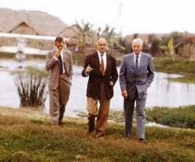 Con Grimwood y Lindbergh.
