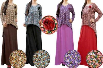 Model Trendi Baju Gamis Busana Muslim Terbaru 2015