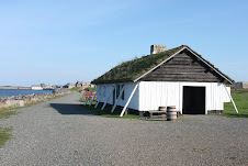 Grassy roof at Louisbourg.