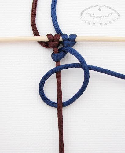 Węzeł frywolitkowy - makrama - 5