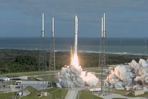 AMBITIOUS MISSION TO MARS LAUNCHES INTO SPACE