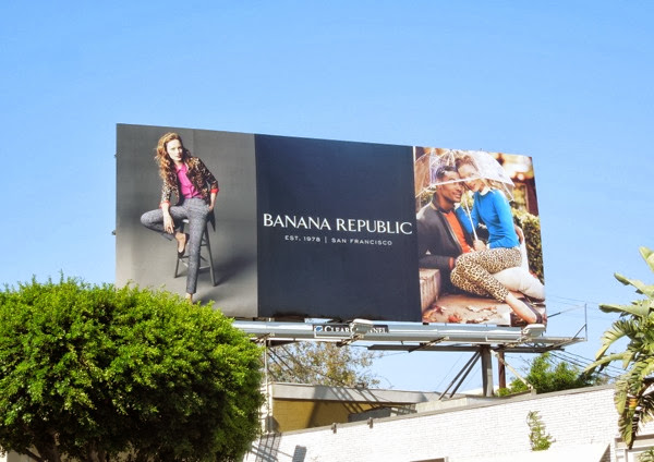Banana Republic Est 1978 San Francisco FW13 billboard