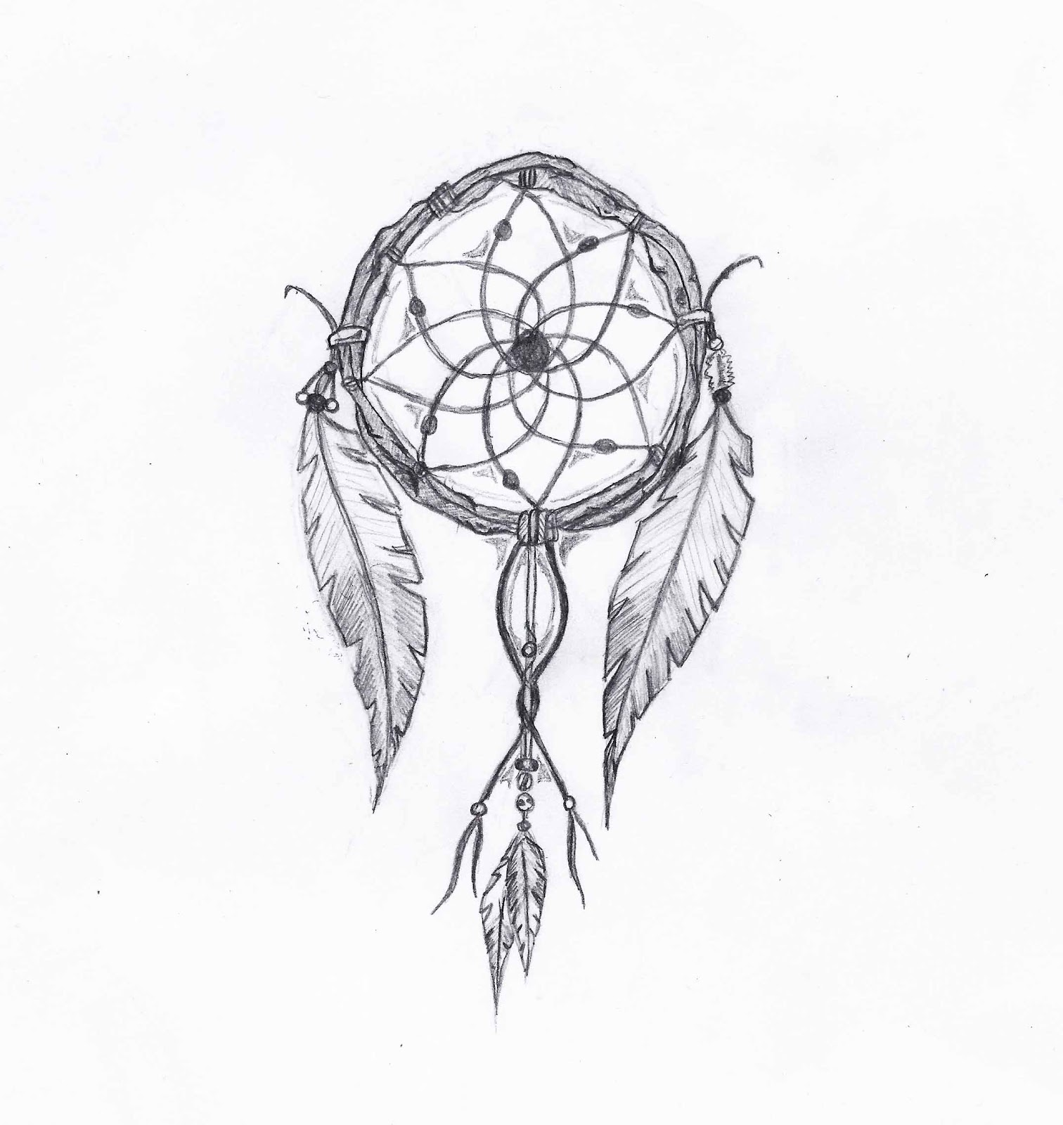 House of doodles for Dream catcher drawing easy